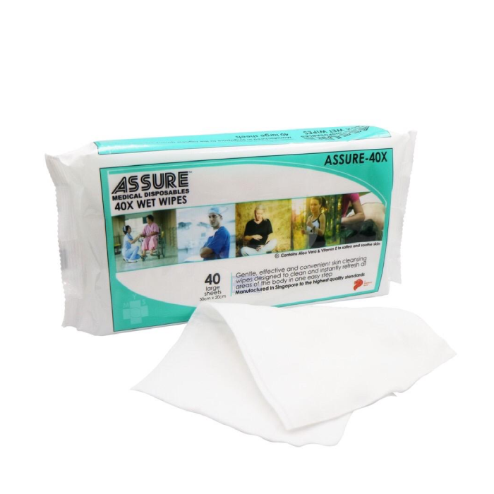 Assure 40X wet wipes